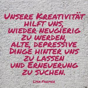 Kreativität, Erneuerung, neugierig