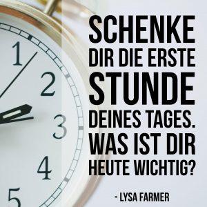 Produktivität, Lysa Farmer, Lysas Runde, heute, wichtig